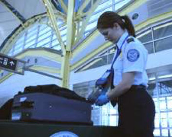 Text Box:  ICx Fido Paxpoint Explosives Detector in Operation in Washington National Airport.  Fido explosives detectors (now owned by FLIR Systems) utilize fluorescent material and methods from the Swager group.